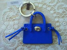 NWT/COACH/LEATHER BLUE PURSE/KEY FOB/KEY CHAIN/KEY RING/F62508 - $30.00
