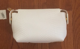 Ultra White Leatherette Cosmetic Bag - $5.99