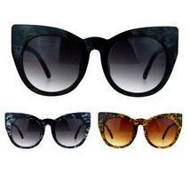 SA106 Womens Oversize Round Cat Eye Tip Comic Casual Diva Runway Sunglasses - $9.95