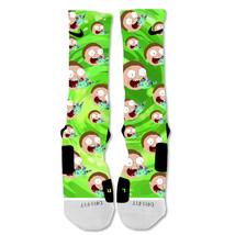 "Nike Elite socks custom Rick and Morty Morty Portal ""Fast Shipping"" - $24.99"