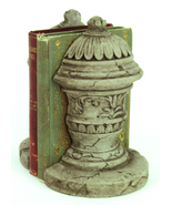 French Ornamental Concrete Bookends - $54.00