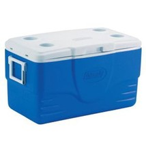Coleman Xtreme 50-Quart  Cooler Lid Cup Holders Camping Cooler Blue - $49.49