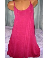 Stretch Heavy Nylon Nightgown Slip Chemise 1X Plus Size Plum Gown - $16.98