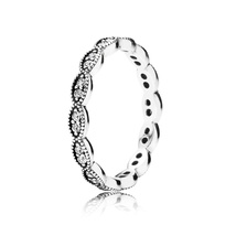 925 Sterling Silver Sparkling Leaves Stackable Ring For Women QJCB652 - $19.99