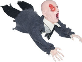 Crawling Zombie Halloween Prop Haunted House Yard Decor Graveyard Sounds... - $28.90