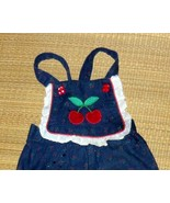 Toddler Cherry And Lace Cotton Overall 12MO. - $5.00