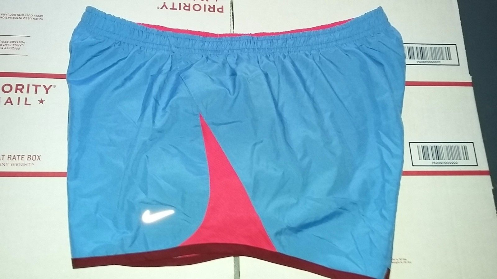 Primary image for Nike TEMPO Women's Running Shorts Sz L BLUE Design