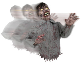 Bump and Go Zombie Halloween Animated Decor Haunted House Poseable Arms ... - $50.90