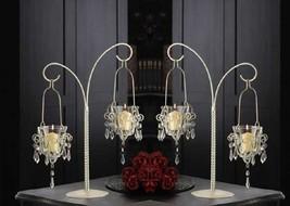 """Mini-Chandelier Votive Stand Centerpiece 17"""" (Set of Two) Wedding Supply... - $36.00"""