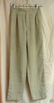 Tan Linen Pants-8 - $5.00