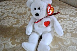 "Rare Ty Original Beanie Babies "" Valentino "" The White Bear/Retired MWMT... - $989.99"