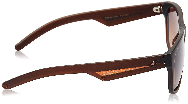 Fastrack UV Protected Wayfarer Unisex Sunglasses - (P329BR1|57|Brown Color)