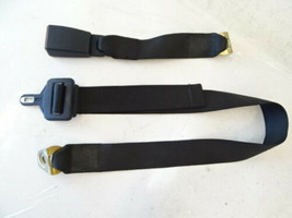 89 Mercedes W126 420SEL 560SEL seat belt, center rear, black 1268601169 w/buckle - $28.04