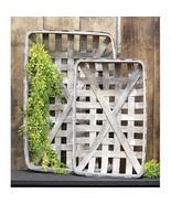 TOBACCO BaSKETS Rectangle Baskets ~ FARMHOUSE GRAY BASKETS ~ SeT of 2 - $49.95