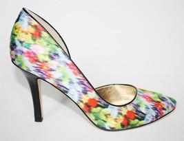 Womens Shoes Anne Klein ZYA d'Orsay Classy Pumps Heels Green Multi Satin Fabric - $53.99