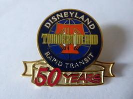 Disney Trading Pin 1070 Disneyland Tomorrowland Rapid Transit 50 years - $32.73