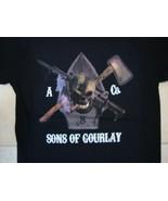 Gourlay Brothers Scotland Soft Black T Shirt M - $17.17