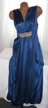 Long Nightgown Navy Blue with Gold Accent 1X 2X... - $25.00