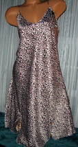 White Black Pink Leopard Chemise Short Gown 1X Plus Adjustable straps  - $12.50
