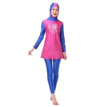 Muslim Swimwear Swimsuit Bathing Suit hw10h   rose red - $41.99