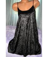 Black Crushed Velvet Nightgown Slip Chemise 2X ... - $16.98