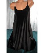 Black Velvet Nightgown Slip Chemise 1X 2X Short... - $18.98