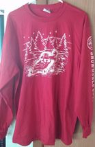 Men's Red Long Sleeve Jerzees Active Wear Snowmobile Club Shirt Size XL - $10.52 CAD