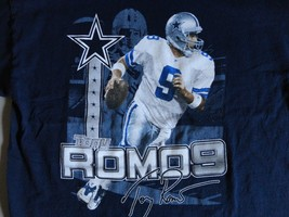 Blue NFL Dallas Cowboys #9 Tony Romo Football t shirt Adult M NICE Free ... - $18.60