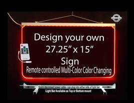 "Personalized LED Sign-Design your own Sign,  Multi-Color Changing 27.25""... - $250.00"