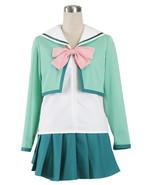 ZeroMart Green Cotton Pink Bow Sailor Pleated Skirt Japan School Uniform... - $39.99
