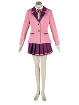 ZeroMart Pink Suit Purple Pleated Skirt Japanese School Uniform Cosplay - $68.99