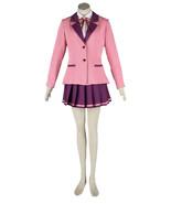ZeroMart Pink Suit Purple Pleated Skirt Japanese School Uniform Cosplay - $68.99