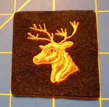 Vintage Hunting Patch Stag Light Orange Gold looking on Black Field Deer... - $10.00