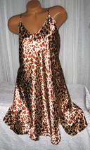 Light Gold Rust Animal Chemise Short Gown 1X Plus Size Adjustable straps  - $12.50
