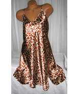 Light Gold Rust Animal Chemise Short Gown 1X Plus Size Adjustable straps  - $12.50