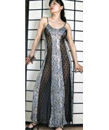 Snake Reptile with Black Lace Panels L Nightgow... - $22.75
