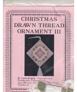 Christmas Drawn Thread Ornament III Chart Pack ... - $14.99