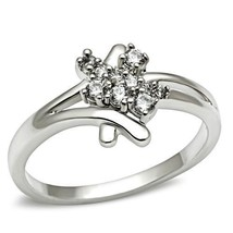 HCJ Silver Tone Cluster Setting Cubic Zirconia Promise Ring Size 5, 9, 10 - $13.88