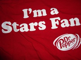 Burgundy Dr Pepper Dallas Stars NHL Hockey I'm A Stars Fan t shirt XL Fr... - $15.04
