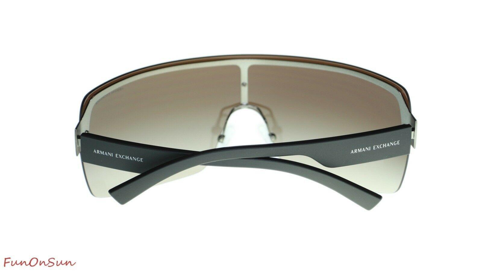 Armani Exchange Sunglasses AX2024S 608813 Matte Gunmetal/Brown Gradient 35mm
