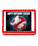 Ghostbusters logo party edible cake image cake topper frosting sheet dec... - $7.80