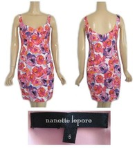 Nanette Lepore Wiggle Pin-Up Style Ruched Bra Top Print Dress 6 - $90.04 CAD
