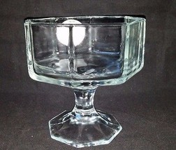 Indiana Glass Clear Stem Compote Large Dessert ... - $12.65