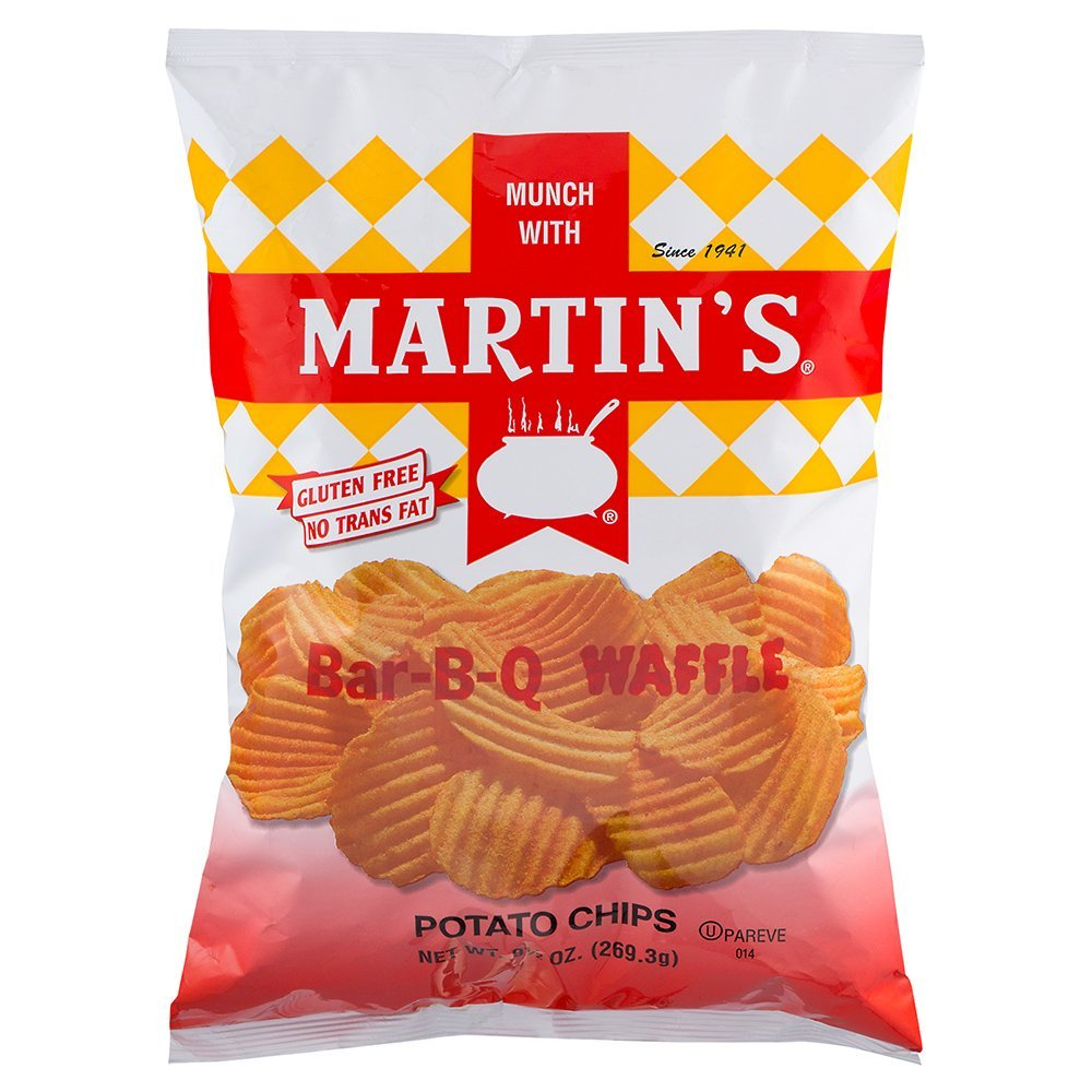 Martin's Bar-B-Q Waffle Potato Chips 9.5 Ounces (3 Bags) - Chips