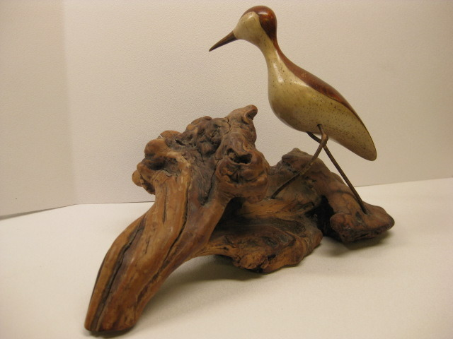 Beautiful Folk Art Hand Carved Wood Bird By Artist Jack Francis - Signed