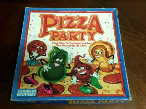 PIZZA PARTY PARKER BROTHERS BOARD GAME VINTAGE CHILDHOOD 1987