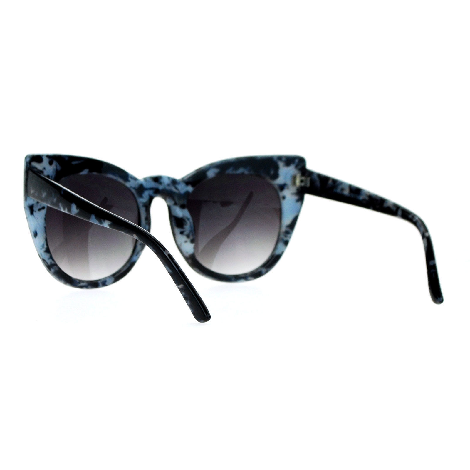 SA106 Womens Oversize Round Cat Eye Tip Comic Casual Diva Runway Sunglasses