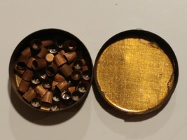 7432----1880 Goldmark's Percussion Caps tin with caps as found - $45.00