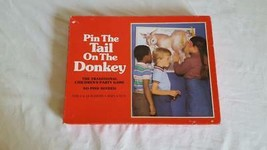 VTG 1981 WHITMAN PIN THE TAIL ON THE DONKEY PARTY GAME, AGES 4-9, 2-14PL... - $4.94
