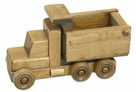 Wood Dump Truck Wooden Construction Toy Amish Handmade Quality Homeschool L@@K ! - $49.49
